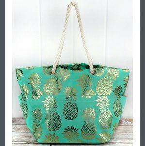Handbags - NEW Extra Large Pineapple Rope Handle Beach Tote!